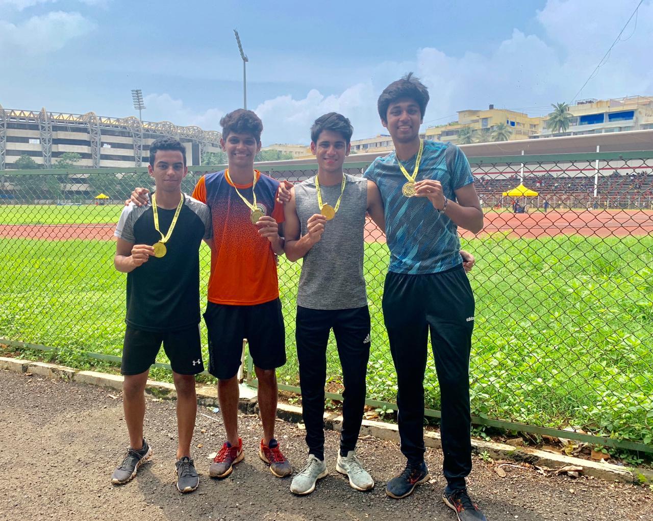 CISCE Athletics 4x100m Relay Gold