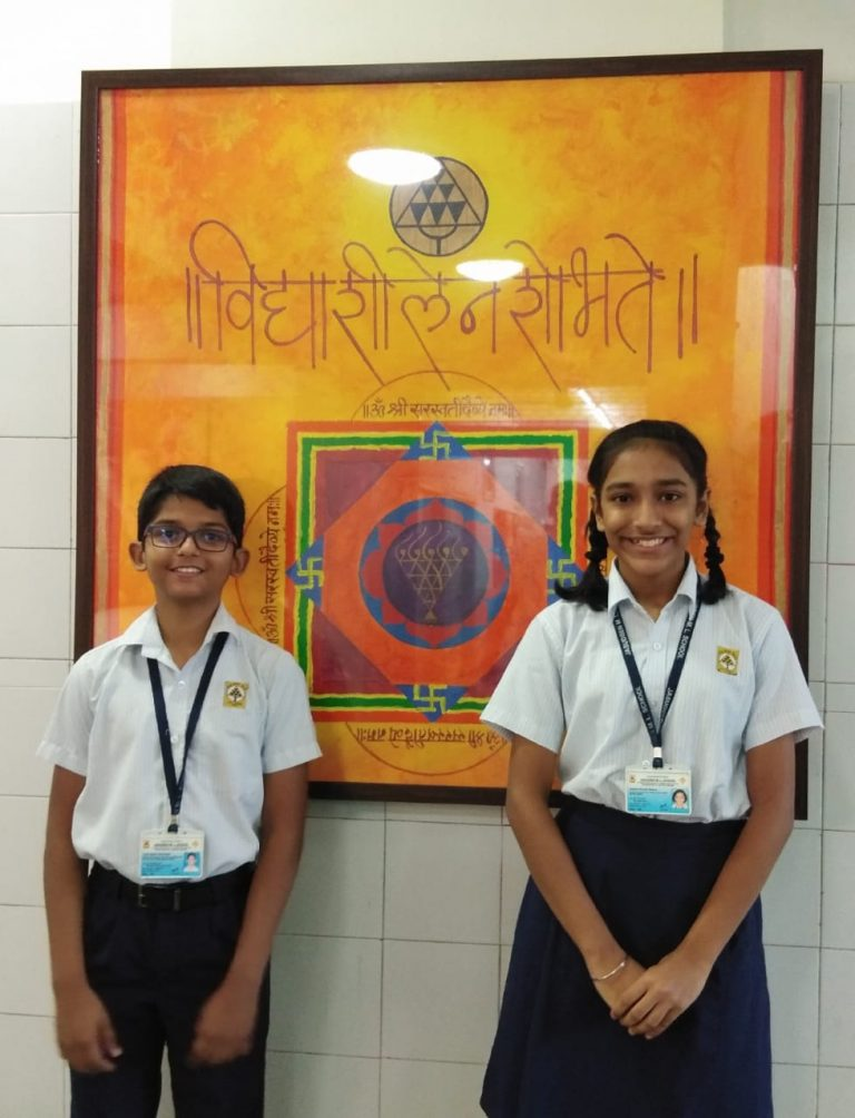 ash Shirishkar and Saesha Mathur of Std VII achieved ranks 4th and 5th in Mumbai respectively in the Elementary Drawing Exam – 2019. There's no limit to your creativity and talent… keep it going!